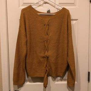 New Lace Up Sweater